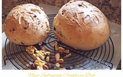 Nuss-Sultaninen-Cranberry-Brot